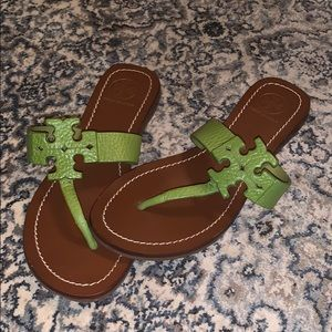 Tory Burch Lime/Avocado Sandals, Size 5.5